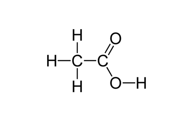ساختار مولکولی اسید استیک