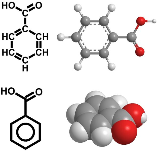 فرمول شیمیایی اسید بنزوئیک